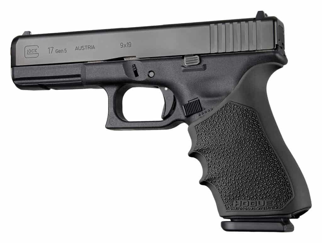 Glock 17 with HandALL Beavertail Grip Sleeve