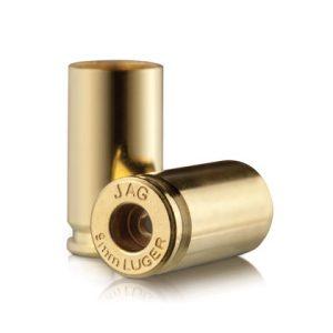 Jagemann Unprimed Brass Handgun Cartridge Cases - 9mm