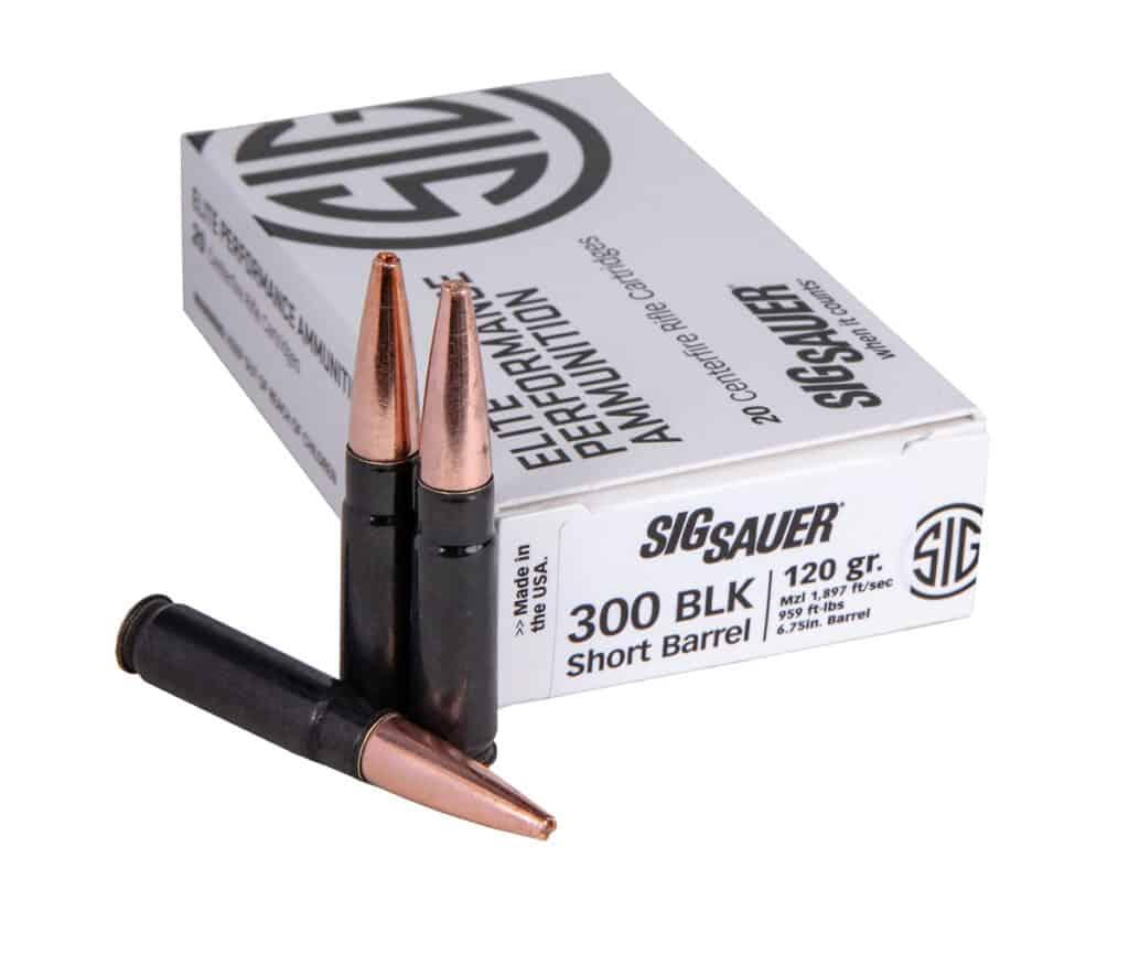 Sig Sauer 300BLK SBR Elite Copper Duty Ammunition for Short Barrel Rifles