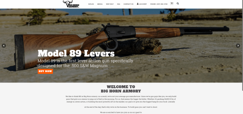 Big Horn Armory Website