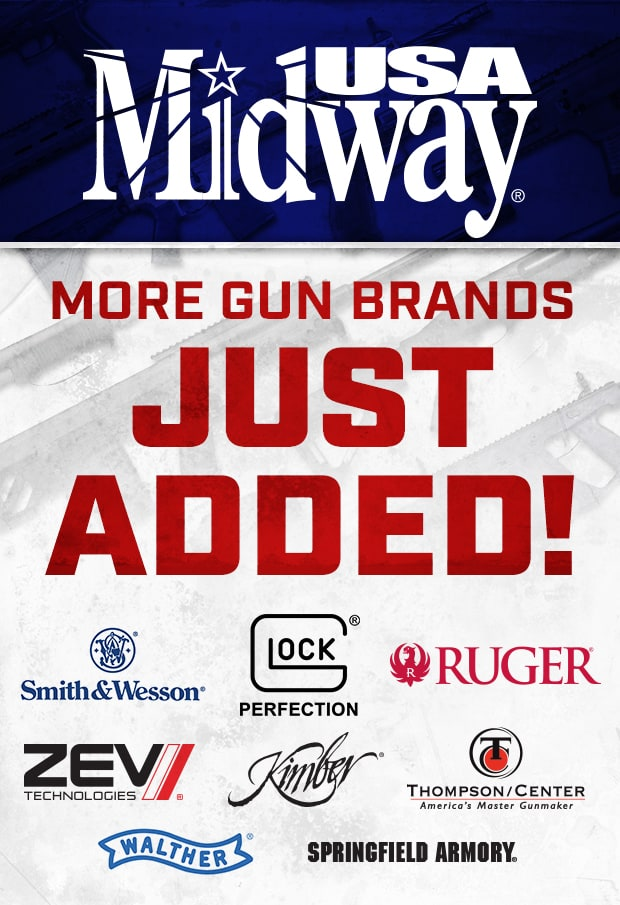 MidwayUSA New Gun Brands