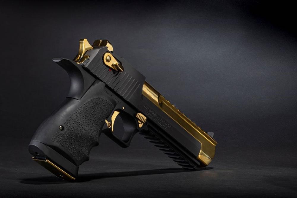 Black and Titanium Gold Desert Eagle