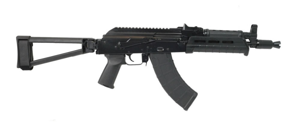 PSA AK-P GF3 MOE Triangle Side Folding Pistol - Black