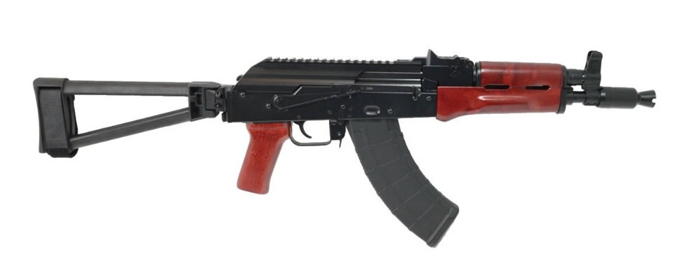PSA AK-P GF3 Red Wood Triangle Side Folding Pistol