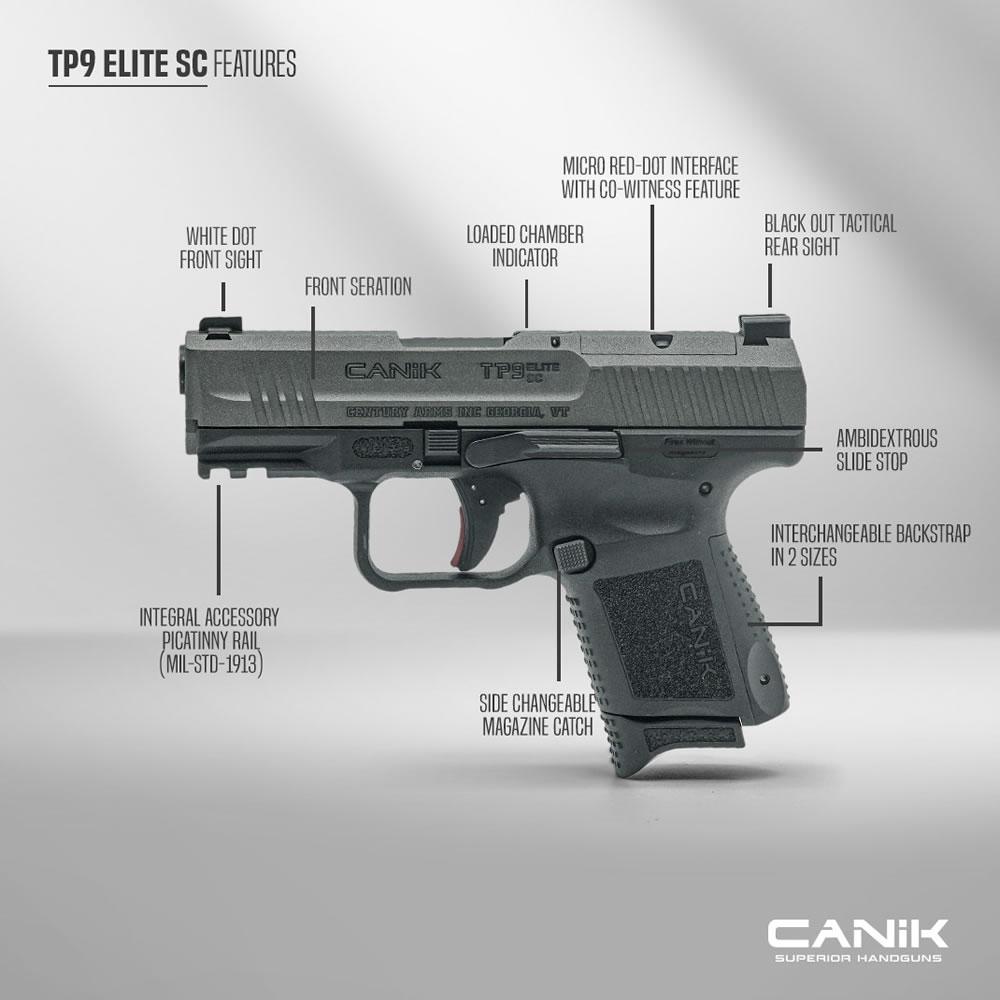 Canik TP9 Elite Sub Compact Pistol
