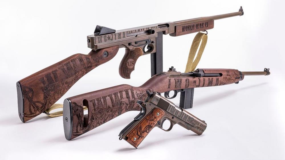 Auto-Ordnance Iwo Jima M1 Carbine, Thompson, 1911 Pistol