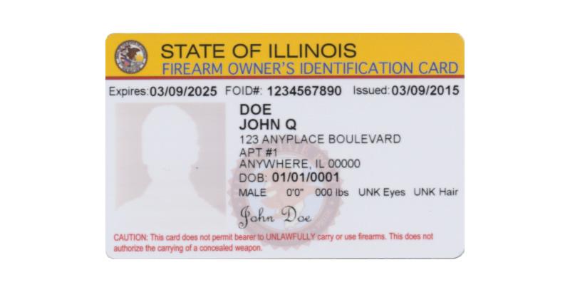 Firearm Owners Identification Card - FOID Card