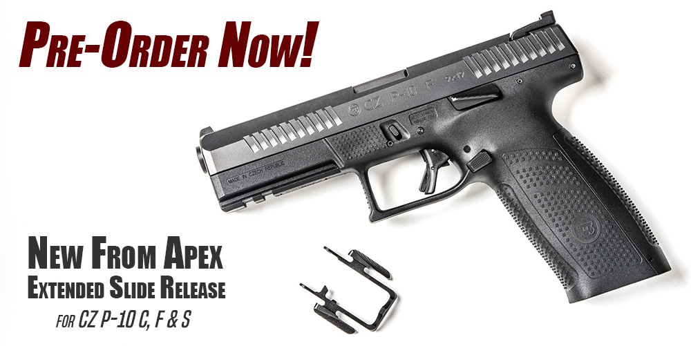 Apex Extended Slide Release for CZ P-10