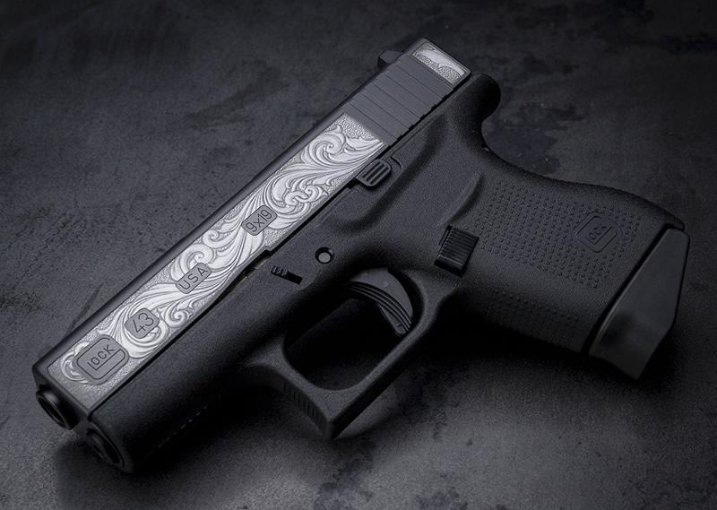 Davidsons Engraved Glock 43 - DAV-12402