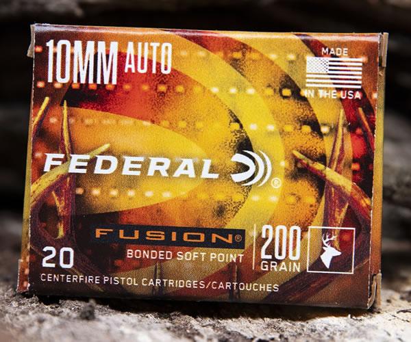 Federal Fusion 10mm Auto Handgun Hunting Ammunition