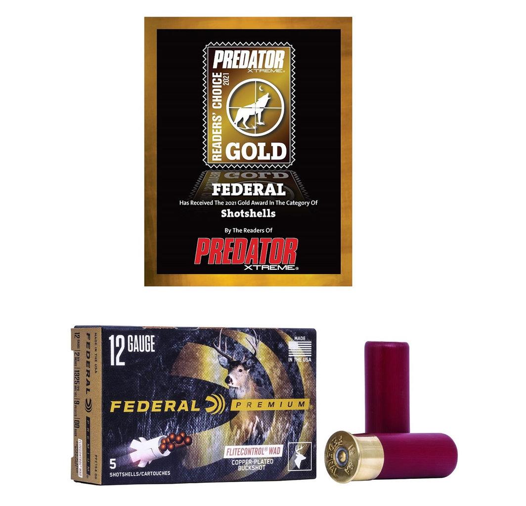 Federal 12ga Copper Plated Buckshot