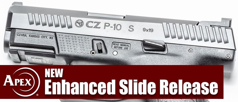 Apex Enhanced Slide Release for CZ P-10 Pistols