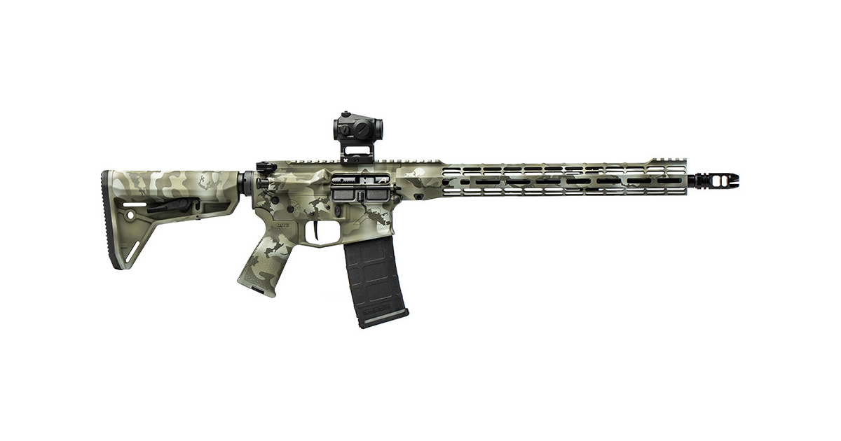 Aero Precision Green Element Camo M4E1 Rifle