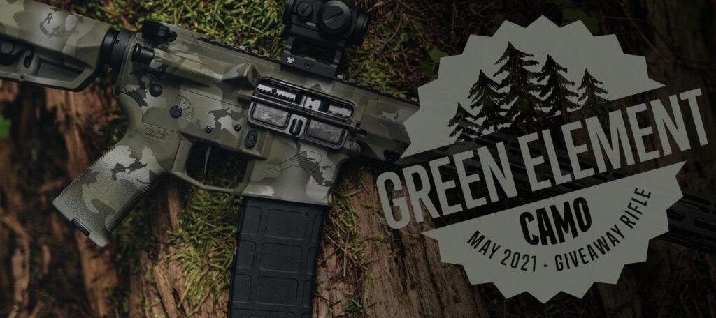 Green Element Camo M4E1 Rifle
