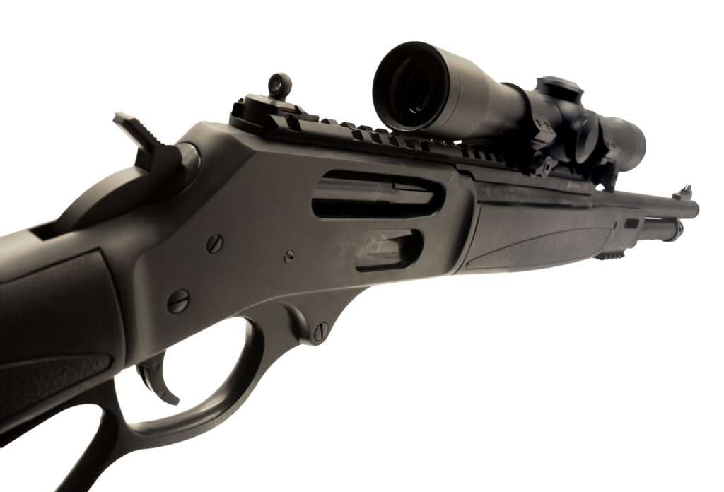 XS Henry Rail with scope and screw-on Ghost Ring sights