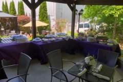 Buffet Setup for Pavilion Party