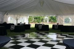 Tent Setup Black and White
