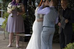 Gazebo Wedding Kiss