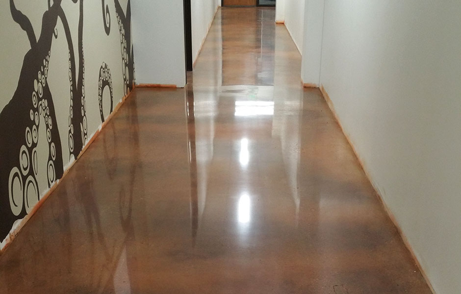 200 Grit Industrial Polish Custom Concrete Prep and Polish