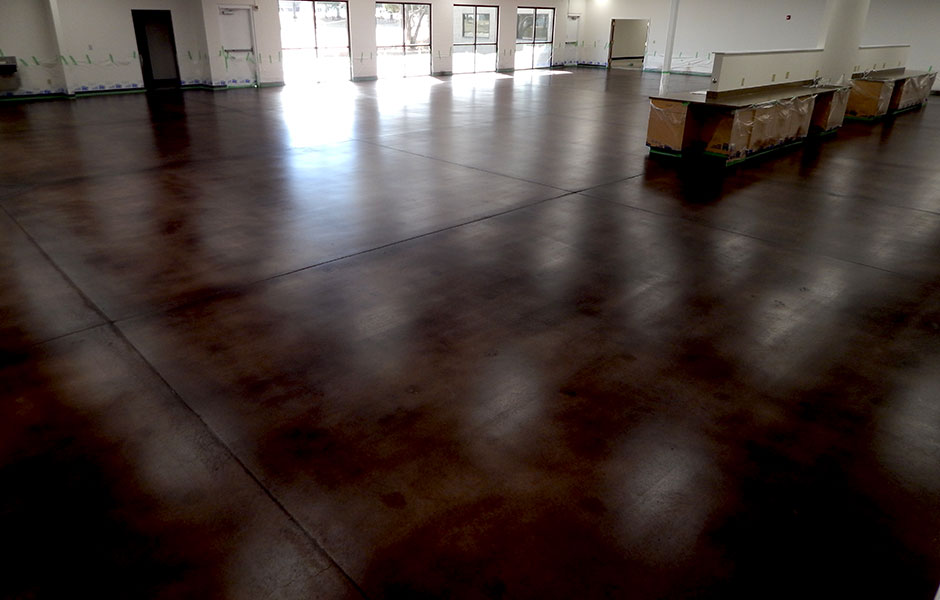 Stain and seal in Walnut finish office space.