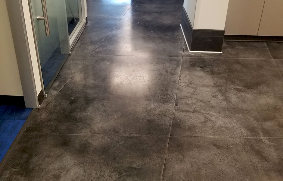 Charter Communications Stain and Seal, Custom Concrete Prep & Polish