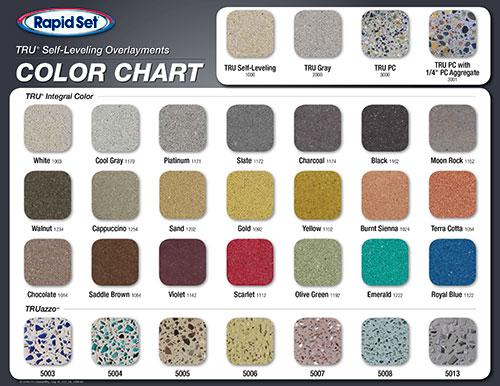 Rapid Set TRU® PC Color Chart