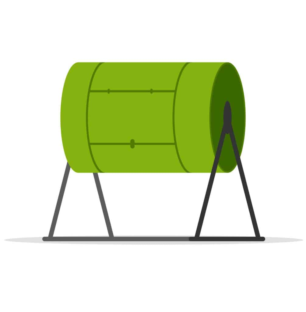 what is a compost tumbler clipart