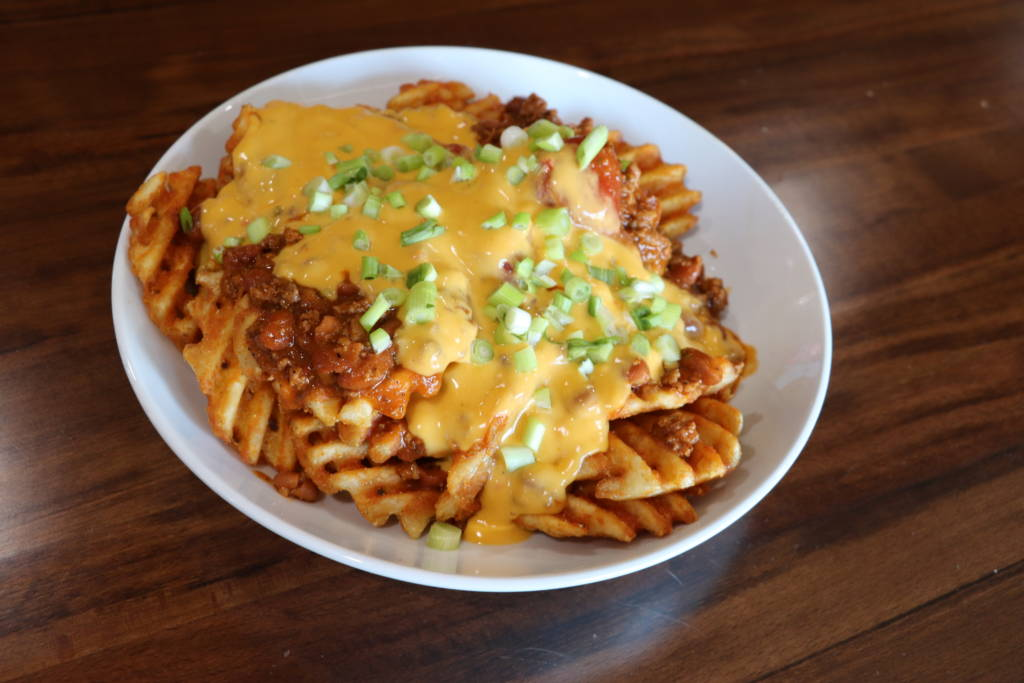 Chili Cheese Waffle Fries