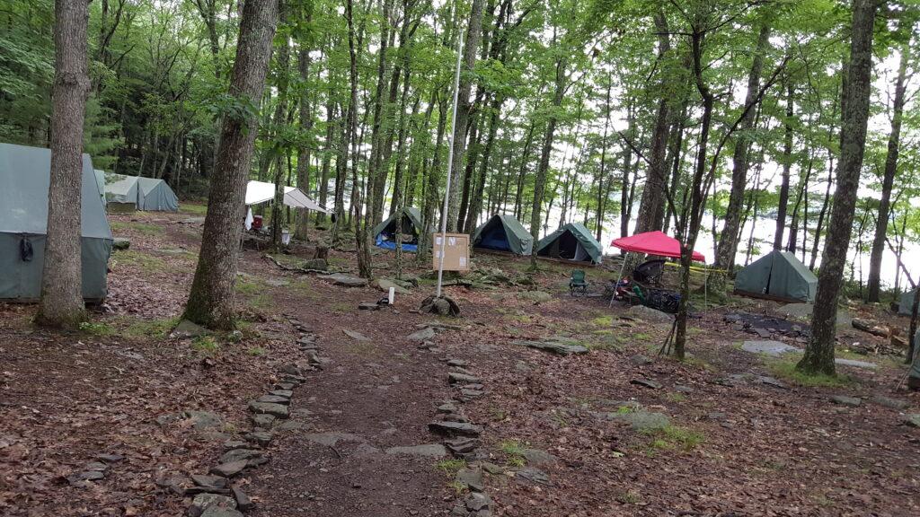 Troop 12 Montclair's summer site at Camp Keowa