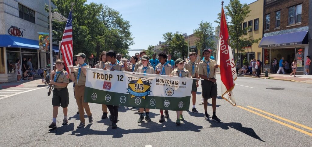 Troop 12 at the Montclair July 4th Parade