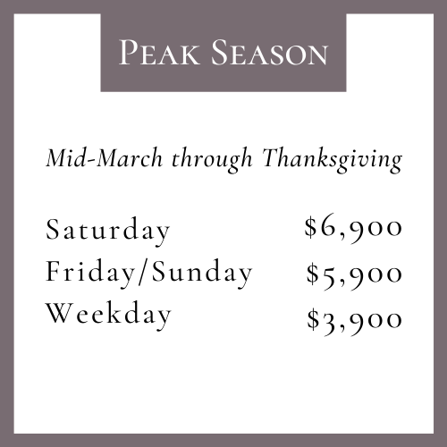 peak season pricing