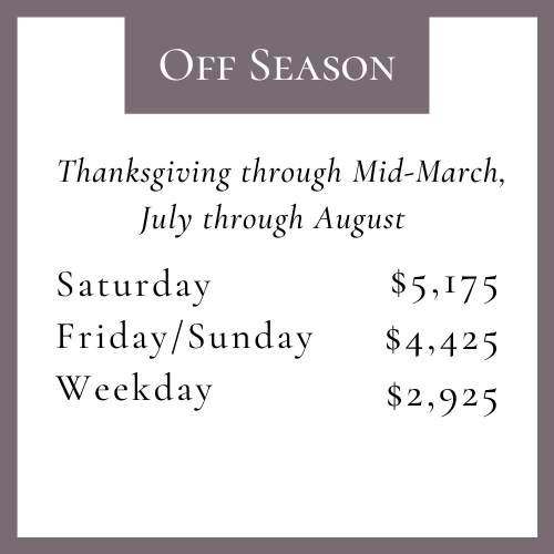 off season pricing