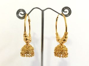 All Gold Hoop Jhumkas -Small Size