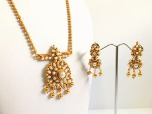 Dainty Pearl Mini Haaram & Matching Earrings