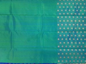 Iridescent Ramar Blue & Fucshia Pure Kanchipuram Silk Saree