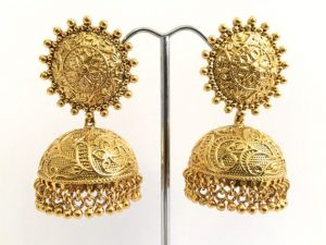 Large Antique Detailed Jhumkas