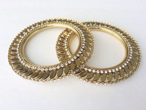 Light Antique Gold Gokhru Kada Pair