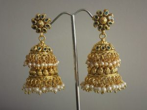 Two-Tiered Antique Jhumkas