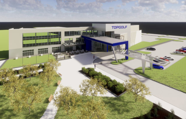 A mockup of the proposed Topgolf facility in Renton, Wash. (Via the City of Renton)