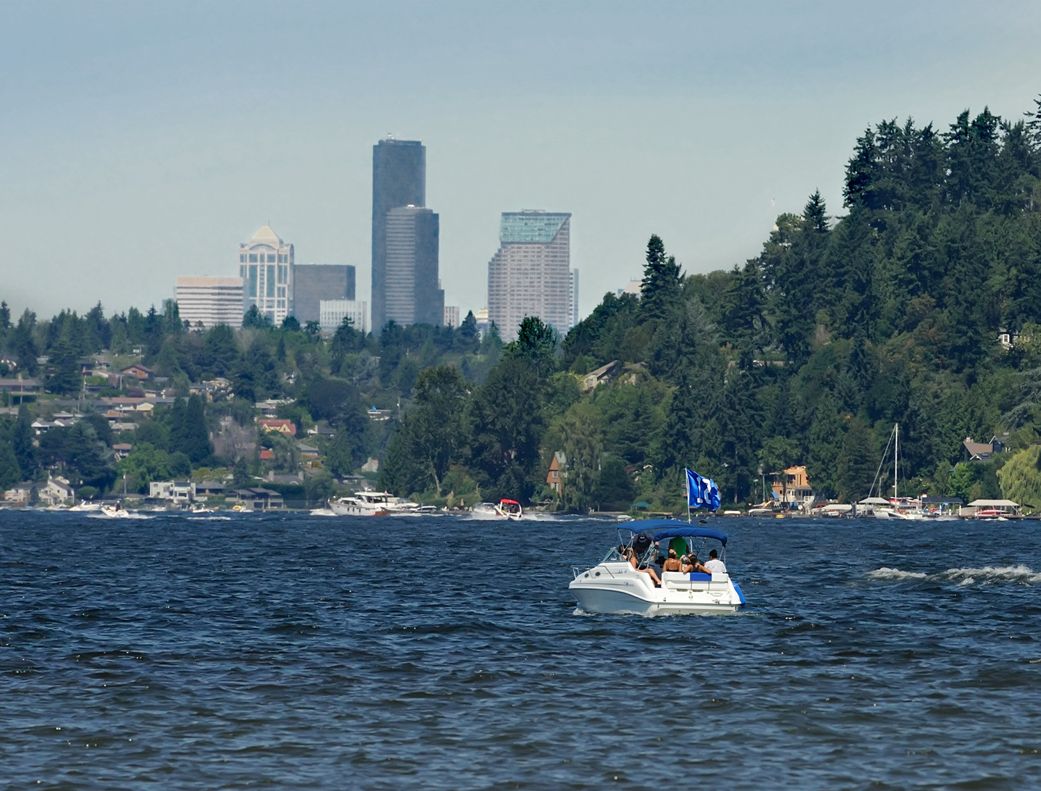 Boats on Lake Washington