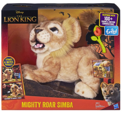 FurReal Disney The Lion King Mighty Roar Simba Interactive Plush Toy