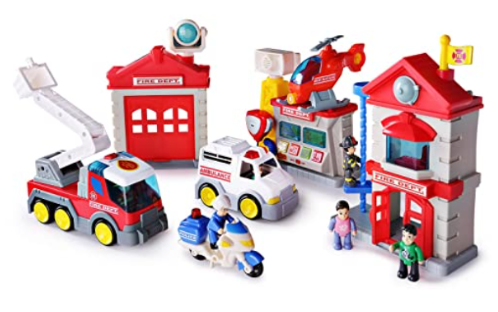 Happkid 3969T Fire Station Toy Fire Department House Playset.