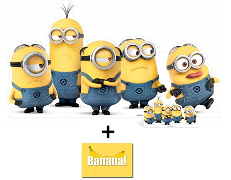 Mischievous Minions Group Pose Lifesize and Mini Cardboard Cutout