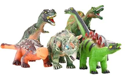 JOYIN 6 Pack 12'' to 14'' Educational Realistic Dinosaur Figures