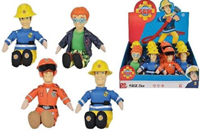 Fireman Sam Beanie Plush Figure 4 Pack