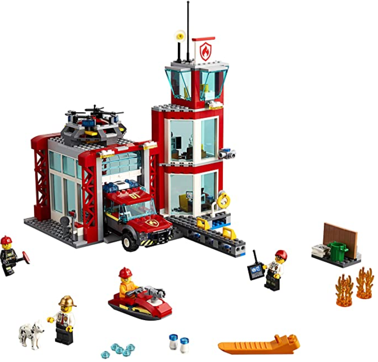 LEGO City Fire Station 60215 Fire Rescue Tower Building Set