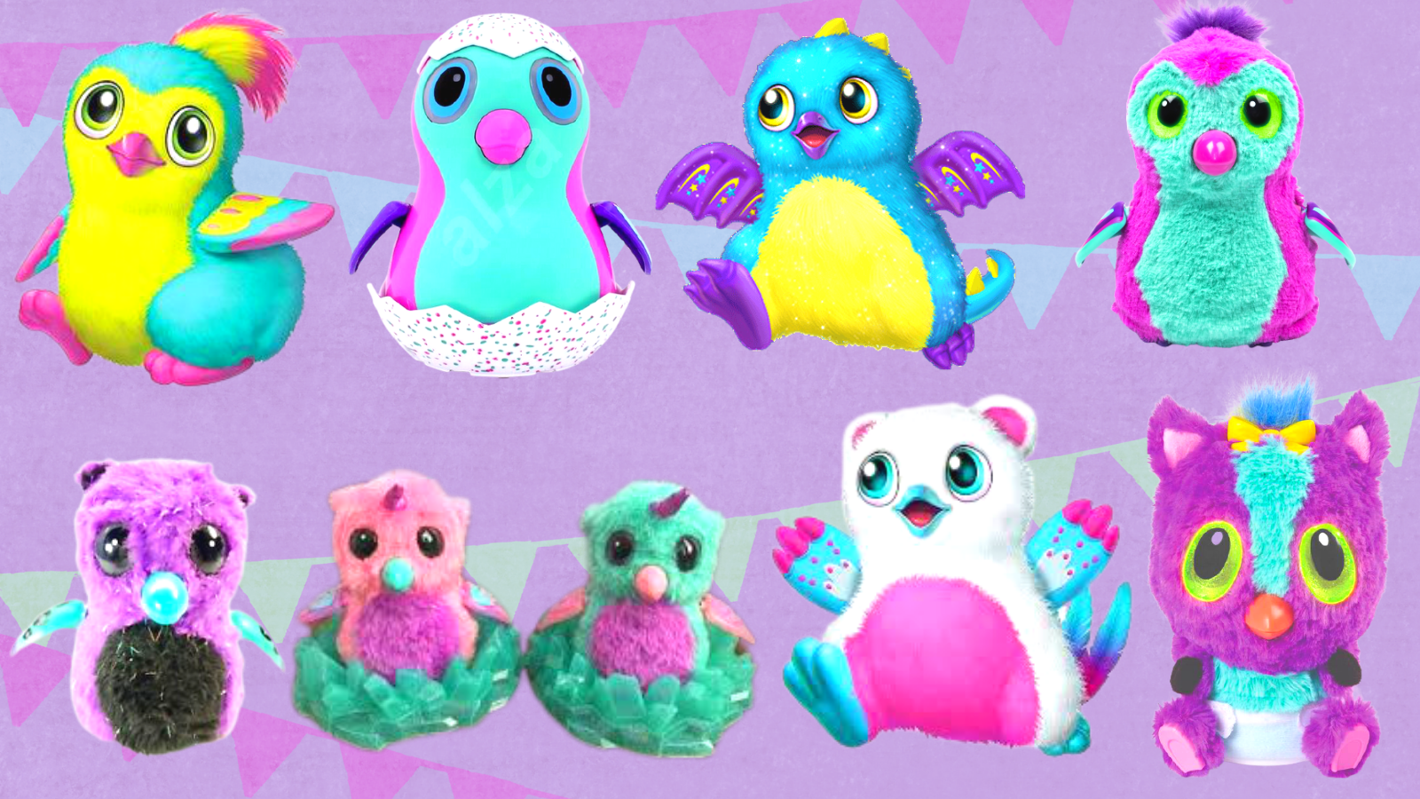 Hatchimals available in different forms.