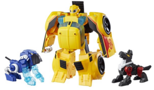 Playskool Heroes Transformers Rescue Bots Bumblebee Rescue Guard 10-Inch Converting Toy Robot Action Figure, Lights and Sounds