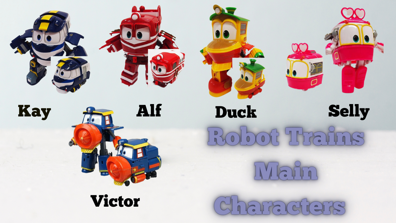 Robot Trains Main characters.