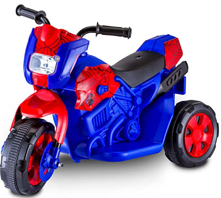 Kid Trax Toddler Marvel Spider-Man Electric Motorcycle Ride On Toy